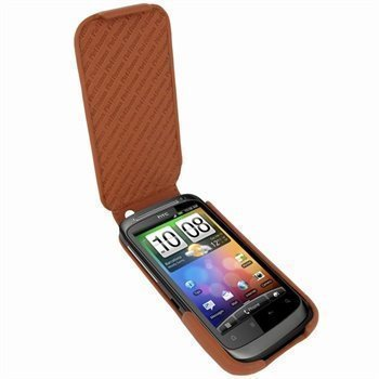 HTC Desire S Piel Frama iMagnum Nahkakotelo Parkittunahka