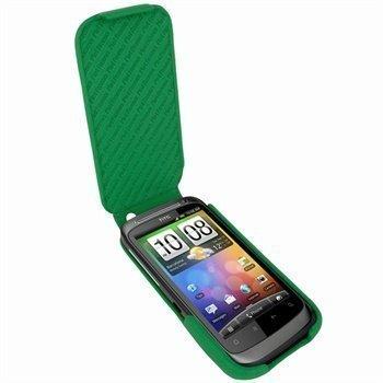 HTC Desire S Piel Frama iMagnum Nahkakotelo Vihreä
