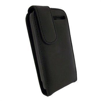 HTC Desire S iGadgitz Nahkainen Läppäkotelo Musta