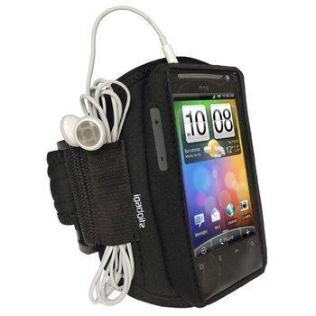 HTC Desire S iGadgitz Vedenkestävä Käsivarsikotelo Musta