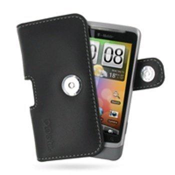 HTC Desire Z PDair Leather Case 3BHTEZP01 Musta