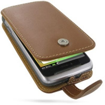 HTC Desire Z PDair Leather Case 3THTEZF41 Ruskea