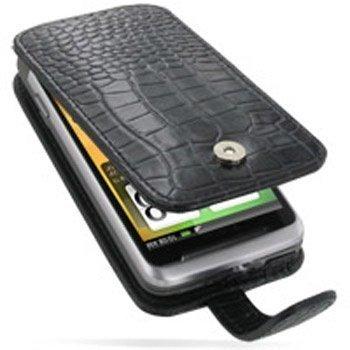 HTC Desire Z PDair Leather Case GBHTEZF41 Musta
