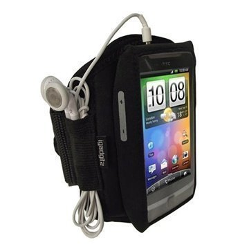 HTC Desire Z iGadgitz Neoprene Sports Jogging Armband Black