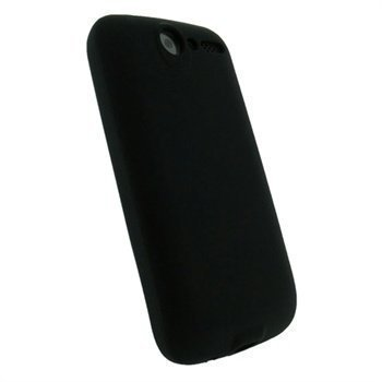 HTC Desire iGadgitz Silikonikotelo Musta