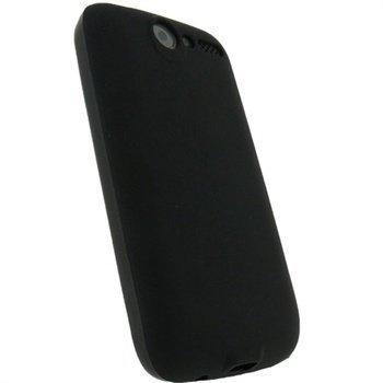 HTC Desire iGadgitz TPU-Suojakotelo Musta
