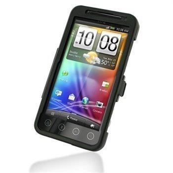 HTC EVO 3D CDMA Metal Case Musta