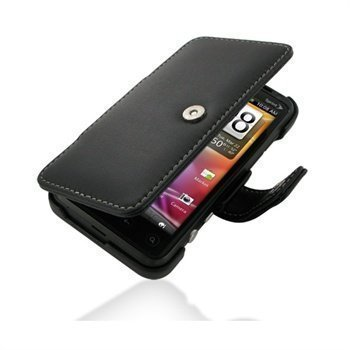 HTC EVO 3D CDMA PDair Leather Case 3BHT3DB41 Musta
