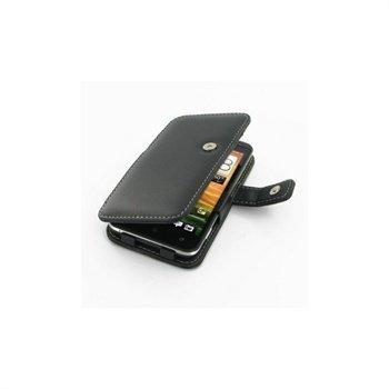 HTC Evo 4G LTE PDair Leather Case 3BHTTEB41 Musta