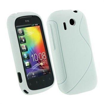 HTC Explorer iGadgitz Dual Tone TPU Cover White