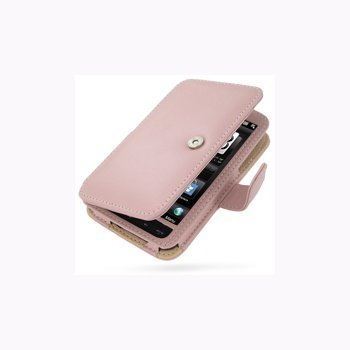 HTC HD2 PDair Leather Case 3PHTH2B41 Vaaleanpunainen