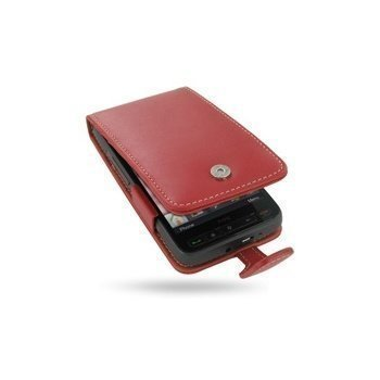 HTC HD2 PDair Leather Case 3RHTTDF41 Punainen