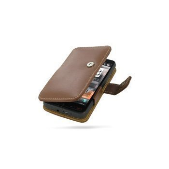 HTC HD2 PDair Leather Case 3THTH2B41 Ruskea
