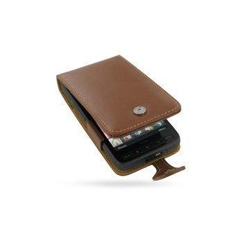 HTC HD2 PDair Leather Case 3THTTDF41 Ruskea