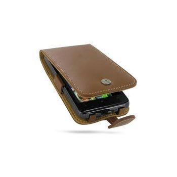 HTC HD7 PDair Leather Case 3THTD7F41 Ruskea
