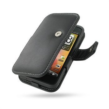 HTC Incredible S PDair Leather Case 3BHTEAB41 Musta