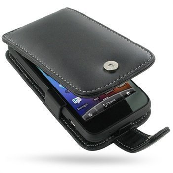 HTC Incredible S PDair Leather Case 3BHTEAF41 Musta