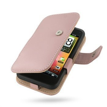 HTC Incredible S PDair Leather Case 3JHTEAB41 Vaaleanpunainen