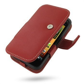 HTC Incredible S PDair Leather Case 3RHTEAB41 Punainen