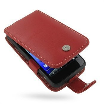 HTC Incredible S PDair Leather Case 3RHTEAF41 Punainen