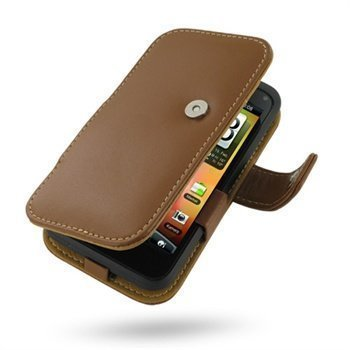 HTC Incredible S PDair Leather Case 3THTEAB41 Ruskea