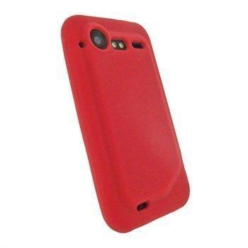 HTC Incredible S iGadgitz Silikonikotelo Punainen