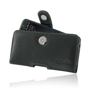 HTC One A9 PDair Vaakasuuntainen Nahkakotelo Musta
