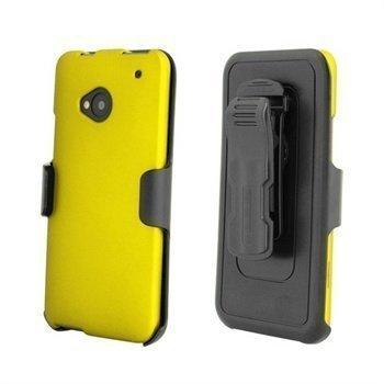 HTC One Beyond Cell Cell 3 In 1 Yhdistelmäkotelo Keltainen / Musta