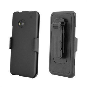 HTC One Beyond Cell Cell 3 In 1 Yhdistelmäkotelo Musta