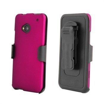 HTC One Beyond Cell Cell 3 In 1 Yhdistelmäkotelo -Pinkki / Musta