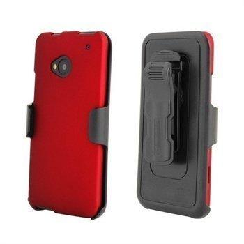 HTC One Beyond Cell Cell 3 In 1 Yhdistelmäkotelo Punainen / Musta