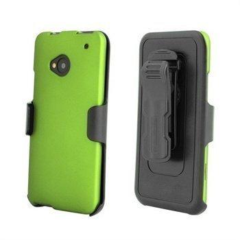 HTC One Beyond Cell Cell 3 In 1 Yhdistelmäkotelo -Vihreä / Musta