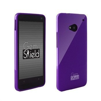 HTC One Beyond Cell Gem Shield Glitter TPU-Suojakotelo Violetti