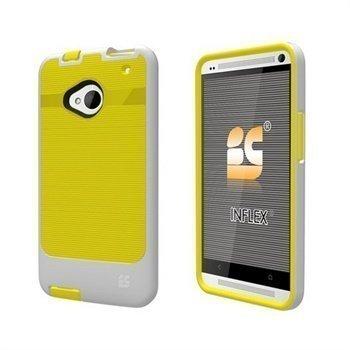 HTC One Beyond Cell InFlex TPU Case Keltainen / Valkoinen
