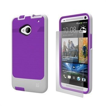 HTC One Beyond Cell InFlex TPU Case Violetti / Valkoinen