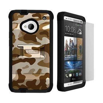 HTC One Beyond Cell Tri Shield Hybrid Kotelo Autiomaan Myrsky Suojaväri
