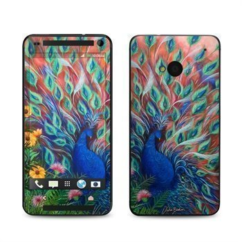 HTC One Coral Peacock Skin