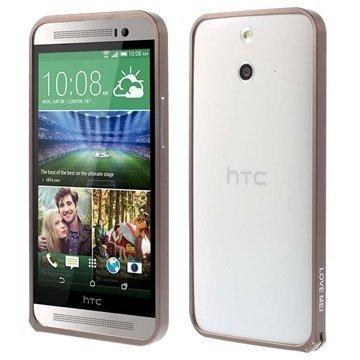 HTC One (E8) Love Mei Alumiininen Suojakehys Kahvi
