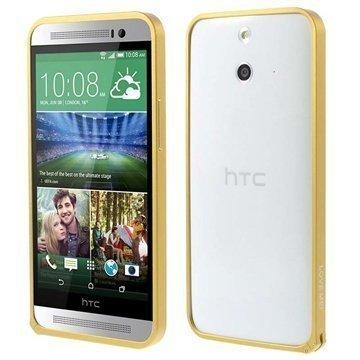 HTC One (E8) Love Mei Alumiininen Suojakehys Kultainen