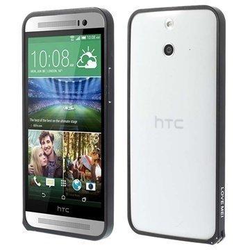 HTC One (E8) Love Mei Alumiininen Suojakehys Musta