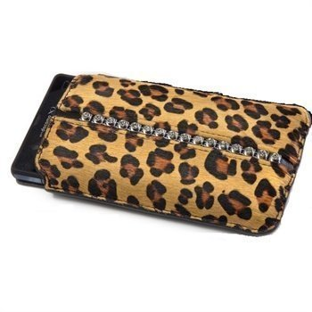 HTC One Ion-Factory VikingQueen Koristeltu Suojakotelo Ruskea Leopardi