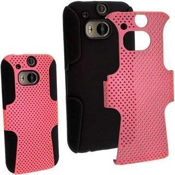 HTC One (M8) HTC One (M8) Dual Sim iGadgitz Suojakuori Musta / Pinkki