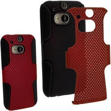 HTC One (M8) HTC One (M8) Dual Sim iGadgitz Suojakuori Musta / Punainen