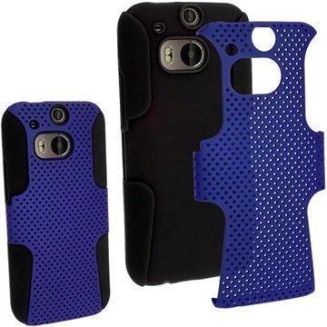 HTC One (M8) HTC One (M8) Dual Sim iGadgitz Suojakuori Musta / Tummansininen