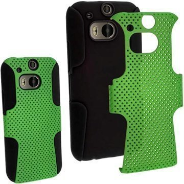 HTC One (M8) HTC One (M8) Dual Sim iGadgitz Suojakuori Musta / Tummanvihreä