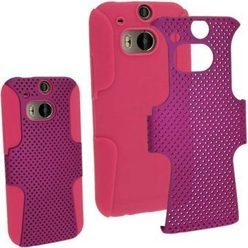 HTC One (M8) HTC One (M8) Dual Sim iGadgitz Suojakuori Pinkki / Violetti