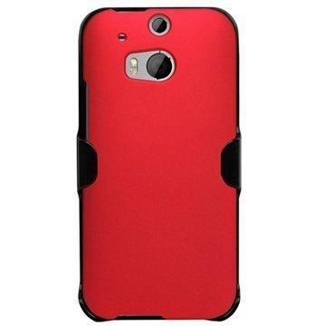HTC One (M8) One (M8) Dual Sim Beyond Cell 3in1 Yhdistelmäkotelo Punainen