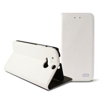 HTC One (M8) One (M8) Dual Sim Ksix Folio Nahkakotelo Valkoinen