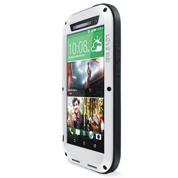HTC One (M8) One (M8) Dual Sim Love Mei Powerful Hybrid Suojakuori Hopeinen