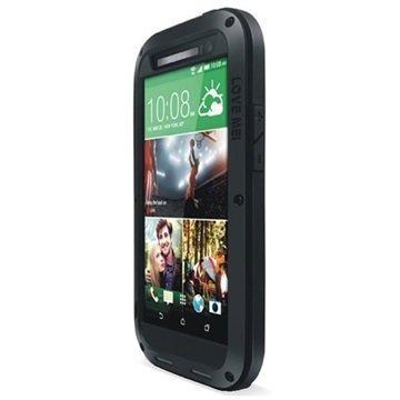 HTC One (M8) One (M8) Dual Sim Love Mei Powerful Hybrid Suojakuori Musta